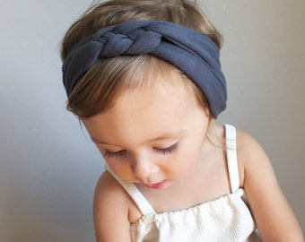 Sailor Knot Headband in CHARCOAL GREY- Baby/Toddler Sailor Knot