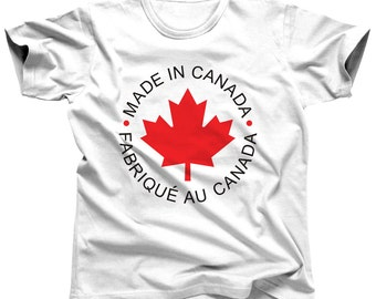Canada Shirt Canada T Shirt Maple Leaf T-Shirt Made In Canada Tee Canadian Clothing Canada Day Canadian Pride Toronto Canada Home Clothes