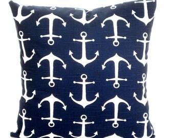 Navy Blue Nautical Pillow Covers Decorative Throw Pillows Cushions Anchors Sailor Throw Pillow Decorative Pillow Cotton Various Sizesizes