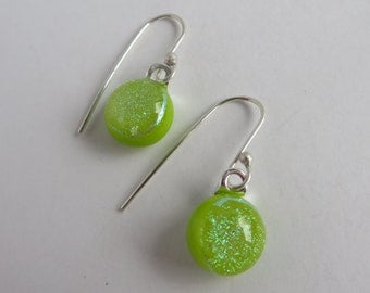 Dichroic Glass Wire Earrings
