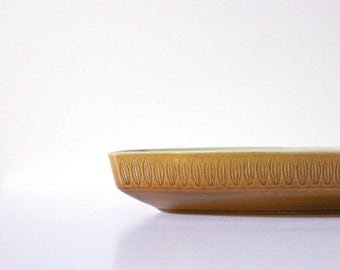 Vintage MidCentury Ceramic Franciscan Discovery 'Topaz' Divided Serving Tray Platter