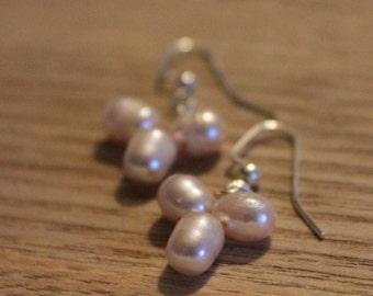 Pink Pearl Earrings (Cultured)