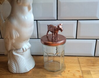 Jar revisited with a goat - Copper - Mamie Rajeunit
