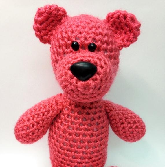 Knitting Patterns Teddy Bear Stuffed Animals : Crochet Teddy Bear Pattern - Amigurumi Crochet Pattern - Crochet Tutorial Pat...