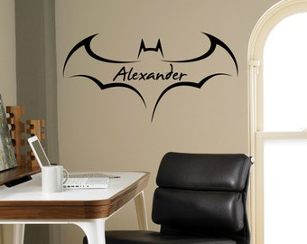 Black And White Wall Decals Batman Wall Decal | Etsy