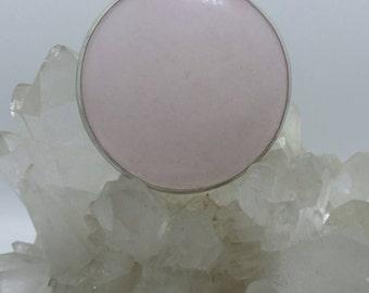 Rose Quartz medallion pendant.