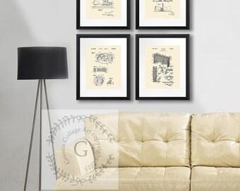 gift for him, Ice Hockey art prints set of 4 ice hockey wall decor, gift for NHL fans gift for hockey player, hockey prints