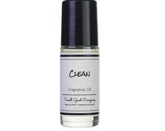 Clean Perfume Oil, Soft Fresh, Floral Quality Roll On Perfume, Women's Perfume, Fragrance Oil, Handmade Wife or Girlfriend Gift