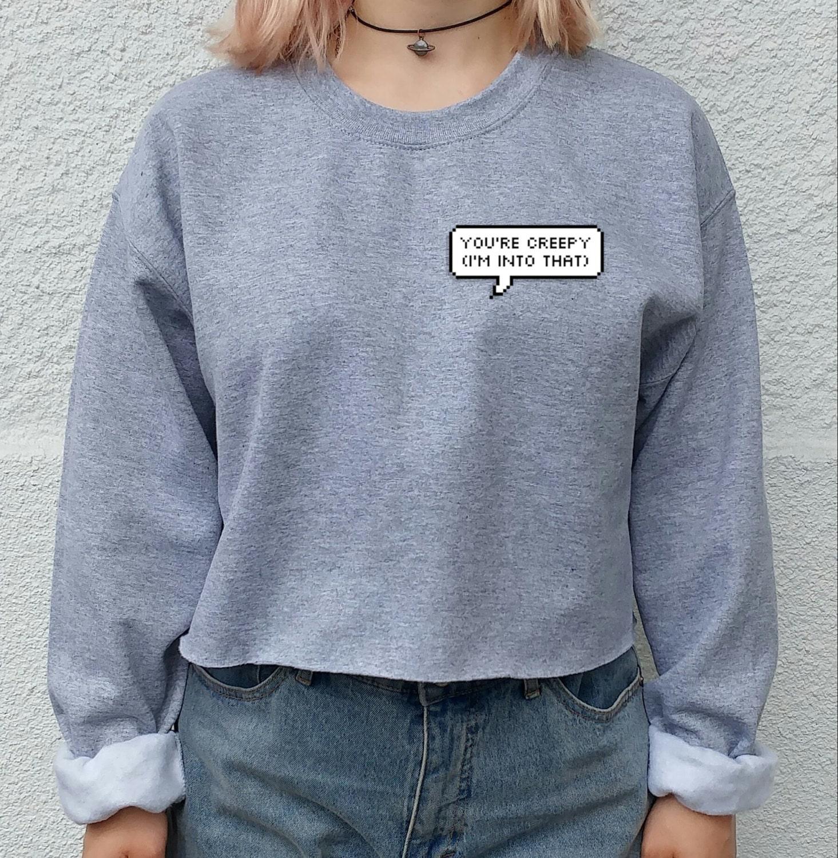 Alien Acid Crop sweater, tumblr, grunge, indie, festival, grunge ...