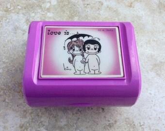 Vintage Love Is LA Times Kim Casali Music Box by Sanyo