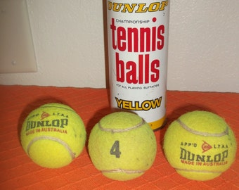 Vintage Dunlop Tennis Balls In Can 70's Nice!