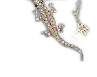 gator pendant, gator neckllace, rhinestone pendant, alligator necklace, croc necklace, crocodile necklace, croc pendant, animal necklace, uk