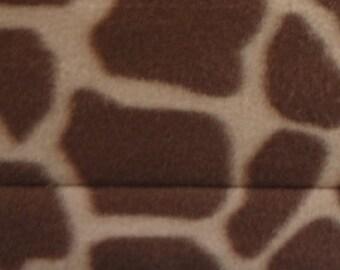 21'' x 23'' Cat Hammock, Bone Textured Upholstery Weight Fabric with Giraffe Fleece Print