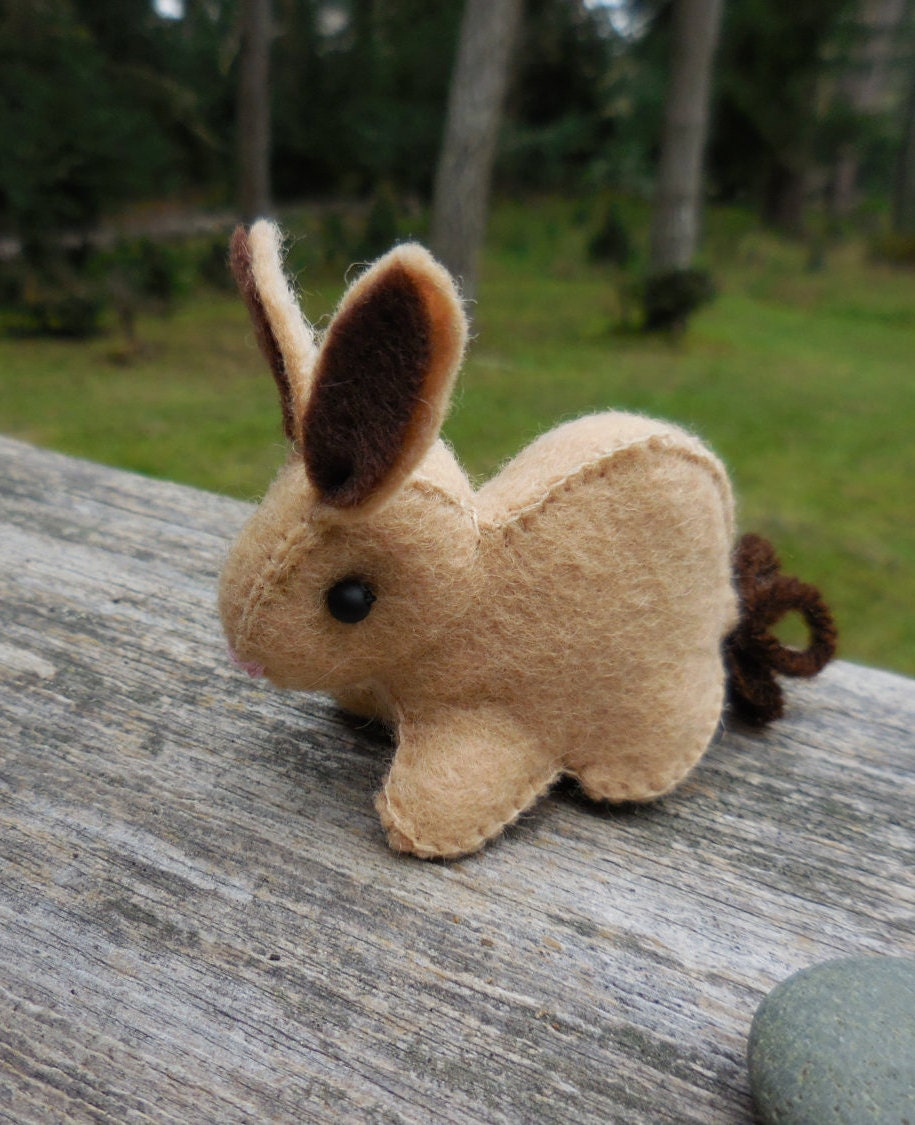 Small Toy Rabbits : Small felt bunny stuffed rabbit toy