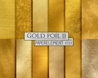 Golden Backgrounds: Gold Foil Backdrops, Gold Digital Paper, Gold Textures, Printable Gold Leaf, Gold Digital Backgrounds, Digital Download