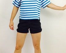 Unique french sailor shirt related items etsy for Striped french sailor shirt