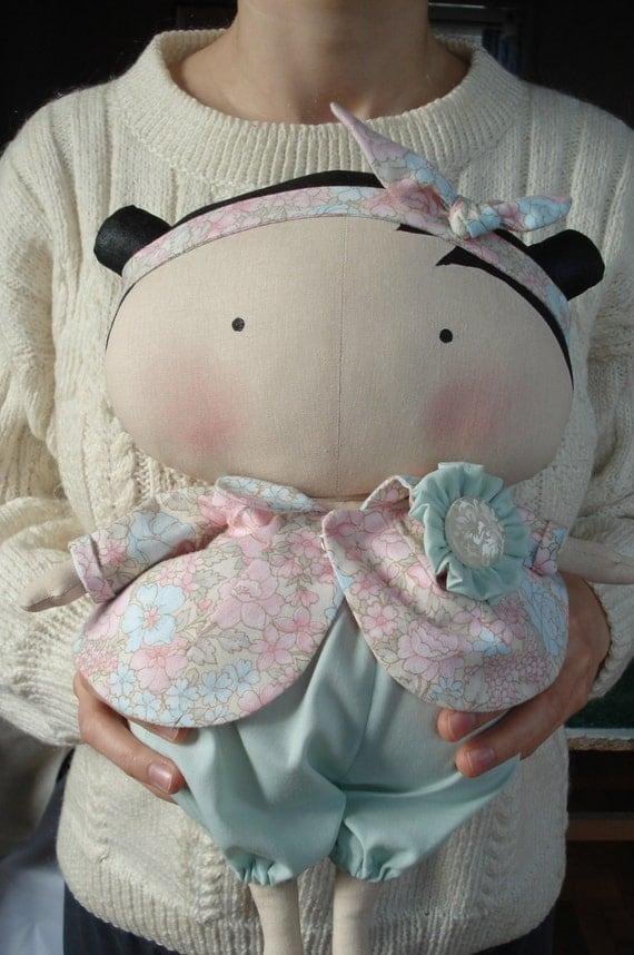 tilda sweetheartcloth doll handmade doll fabric doll art