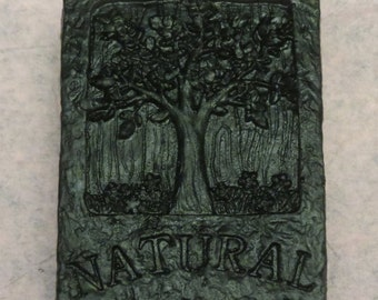 Decorative soap bar with tree  4 pack