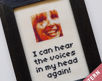 Friends TV Show Cross Stitch Pattern · Phoebe Buffay