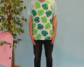 Palm print raglan t-shirt