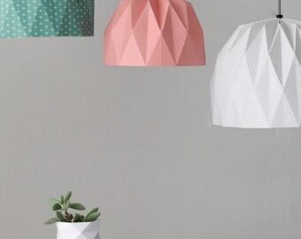 Origami grand abat-jour, suspendus abat jour, abat-jour en papier de couleur