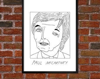 Badly Drawn Paul McCartney - Beatles Poster - *** BUY 4, GET A 5th FREE***