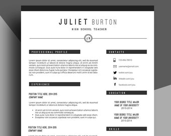 professional resume template cv template resume cover letter resume for job resume - Free Cover Letter For Resume Template