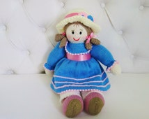 Lovely Hand Knitted Doll - Size 18 Inches (Made to Order)