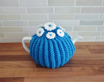 Blue and White Flower Tea Cosy (Made to Order)