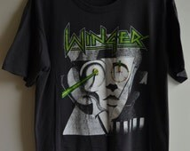 1989 WINGER Official Too Tuff To Tame U.S.A. Tour Tee Shirt / Size L