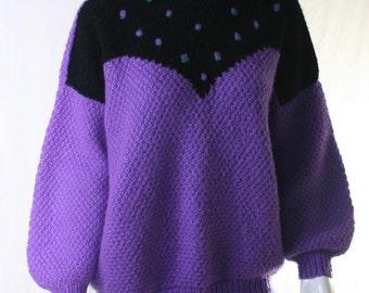 80s oversized sleeves sweater