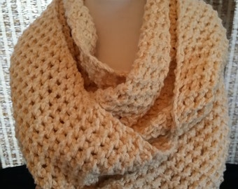 Beige eternity scarf