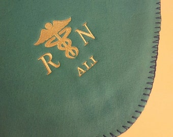 Personalized Fleece Blanket/Throw For Nurse!