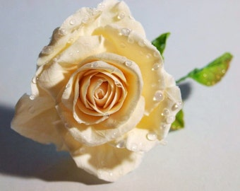 Bridal Hair Pin, Ivory Hair Flower, Bridal Accessories, Wedding Pin, Flower Accessories, Bridesmaid Headpiece, Wedding Headpiece, Ivory Rose