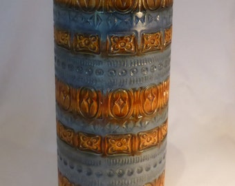 Scheurich Fat Lava floor vase in Blue/brown - original from the 1960s