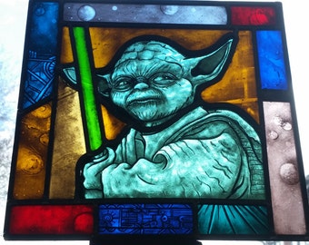 Star Wars Yoda Stained Glass