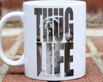 Tupac Shakur | Thug Life | Old School | mug