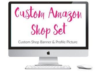 Custom Amazon Handmade Banner Set - Amazon Shop Banner - Amazon Page Design - Custom Amazon Set - Made To Match - Social Media Banners