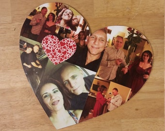 "22"" Photo Collage, Heart Photo Collage, Photo Collage Shape, Custom Photo Collage, Collage, Personal Photo Collage, Custom Photo Letters"