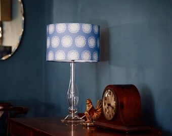 Lampshade in Antoinette design (blue, 15cm or 30cm diameter)