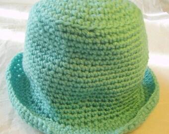 Pistachio Green 15in Acrylic Hand-crocheted Baby Hat