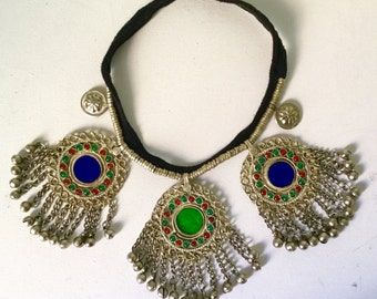 Ethnic necklace / necklace ethnic / kuchi jewelry / tribal fusion necklace / Boho / Boho chic / gypsy / bellydance necklace / Burning man / Bohemian