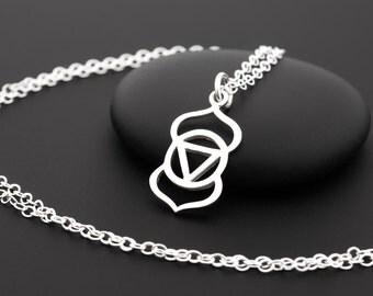 Third Eye Chakra Necklace, Chakra Jewelry, Sterling Silver, Yoga Necklace, 6th Chakra, Meditation Necklace, Yoga Gifts, Sixth Chakra, Yogi