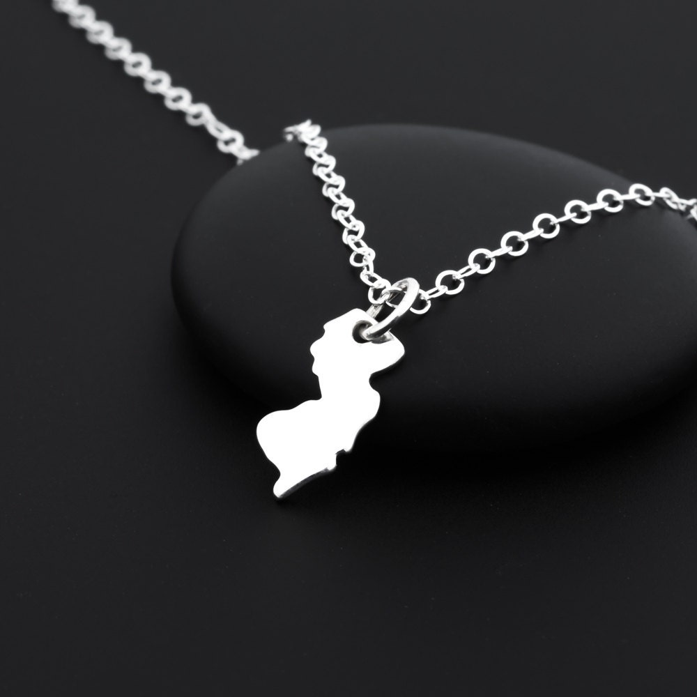 new jersey necklace new jersey jewelry sterling silver state