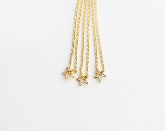 Tiny Hallow Star Charm Necklace // Dainty Necklace // Jewelry Gift for Her