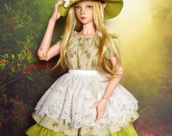 SD13/16 Sweet Pale Green Country dress (outfit for SD13/16 girls)