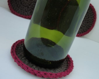 Set of 4 Crocheted Drink Coasters