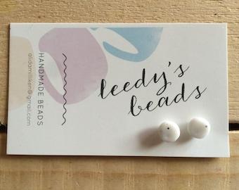 Handmade Marble Stud Polymer Clay Earrings