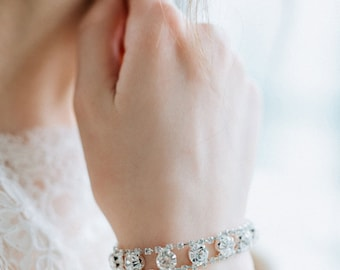 SALE- Wedding Bracelet, Swarovski Rhinestones Bracelet, Bridal Bracelet, Wedding Bridal Jewelry - NEW COLLECTION