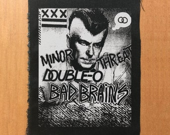 Old flyer patch, punk patch, punk patches, bad brains, double o, minor threat